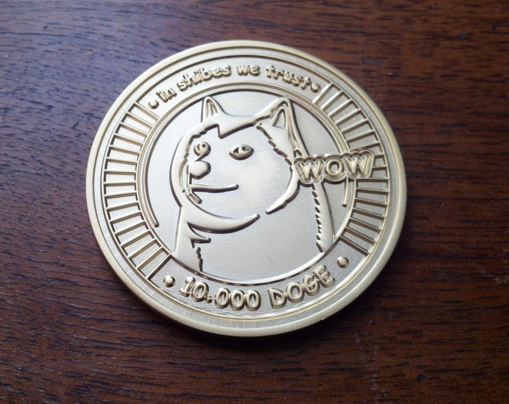 Behold, the Crypto Imperator 10,000 DGC piece!