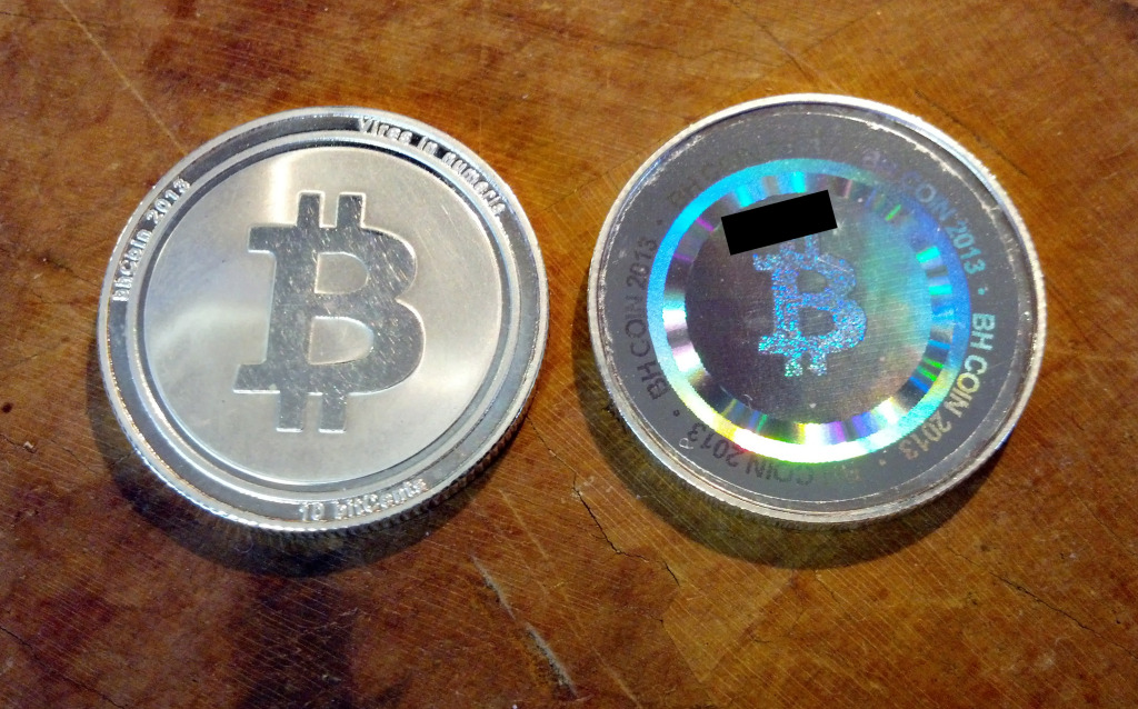 bhCoin series 2 front & back.