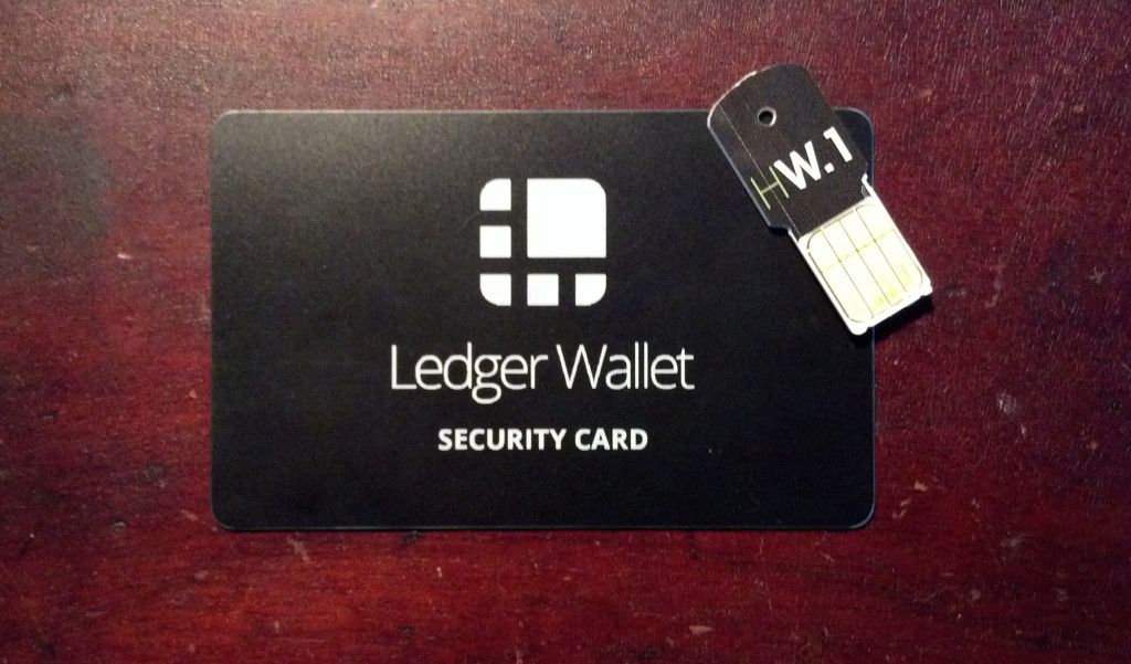 The Ledger wallet Security Card: so simple, so key.