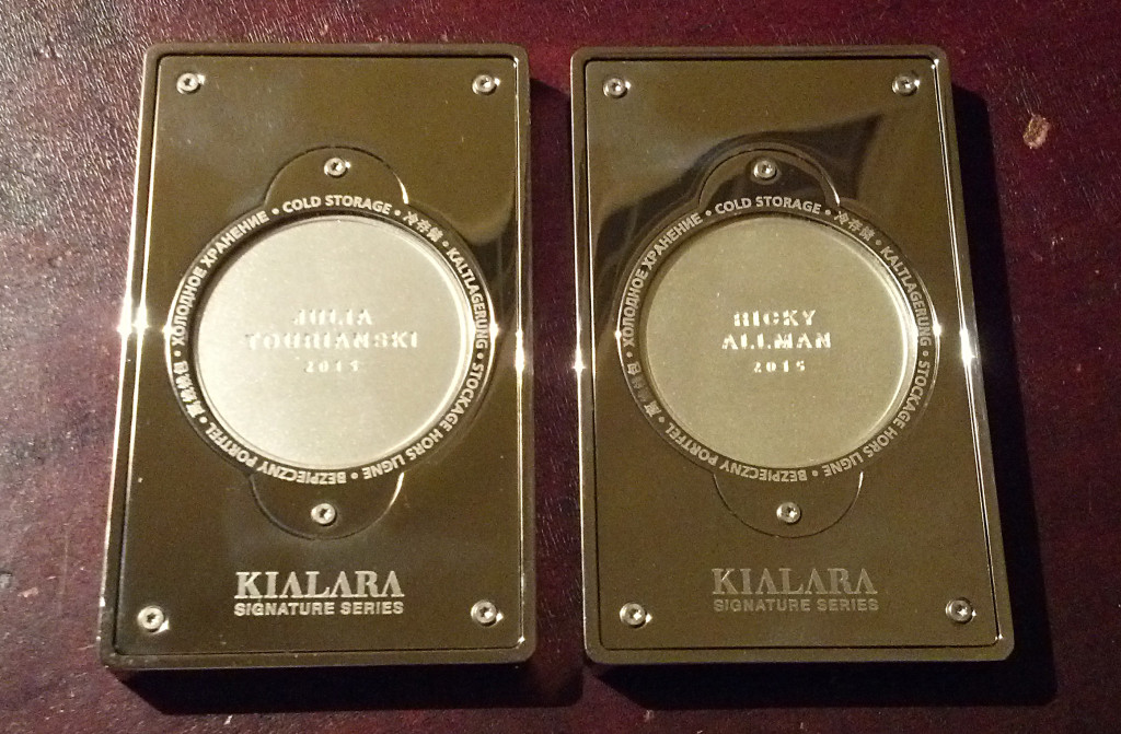 The Kialara Signature Series, reverse.