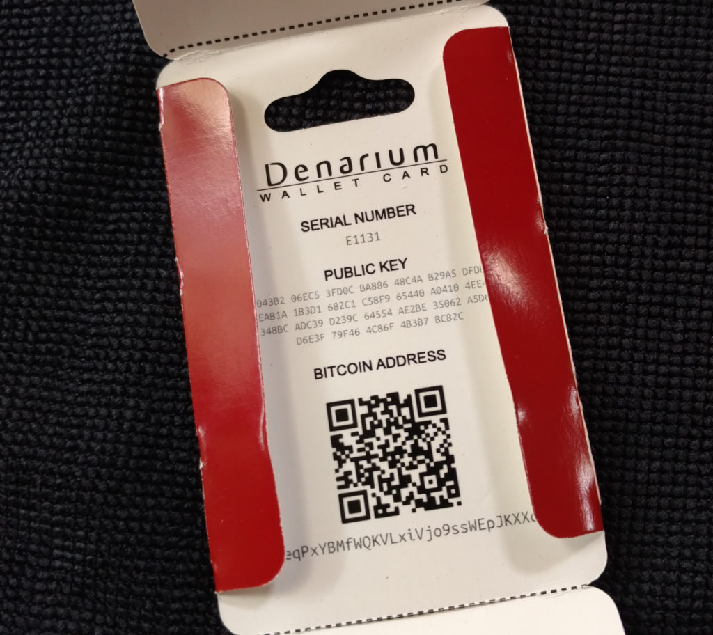The Denarium packaging contains detailed information about each individual coin.